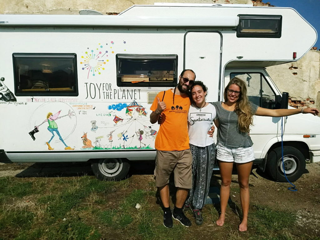 Joy For The Planet van with some volunteers